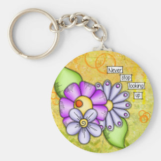 Afternoon Delight Positive Thought Doodle Flower Key Ring