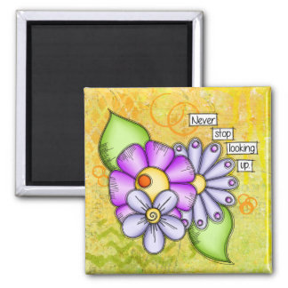 Afternoon Delight Positive Thought Doodle Flower Magnet