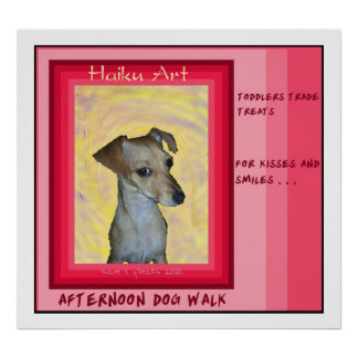 Afternoon Dog Walk Haiku Art Print
