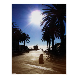 Afternoon In Hermosa Beach Print