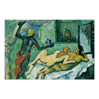 Afternoon In Naples (The Rumpunch) By Paul Cézanne Poster