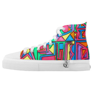 Afternoon Light-Abstract Art Geometric Printed Shoes