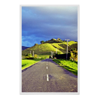 Afternoon Light On Highway, North Island Posters