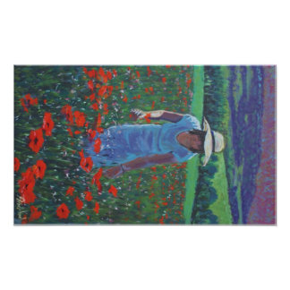 Afternoon poppies in Aveyron Poster