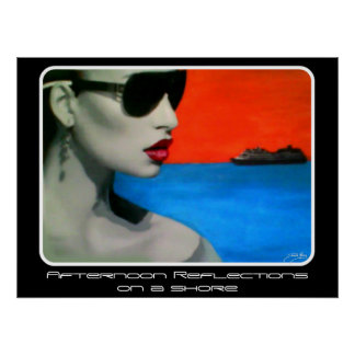 """""""Afternoon Reflections on a Shore"""" on a poster"""