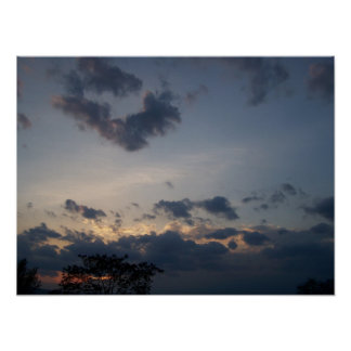 Afternoon Sky and Clouds Poster