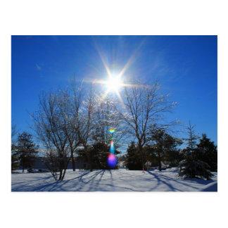 Afternoon Sparkly Sun Postcard