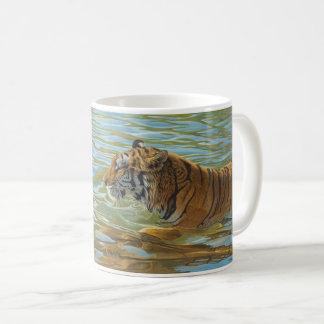 """Afternoon Swim"" Tiger - Coffee Mug"