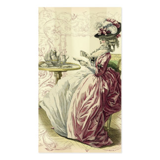 Afternoon Tea, calling card on ivory Pack Of Standard Business Cards