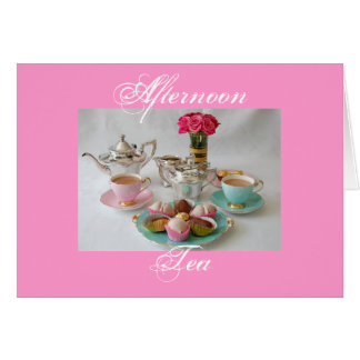 Afternoon Tea Greeting Cards Zazzle.com.au
