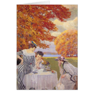 Afternoon tea in the park card