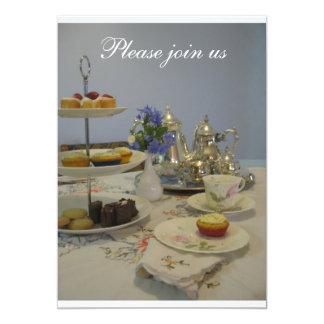 Afternoon tea ladies party 13 cm x 18 cm invitation card