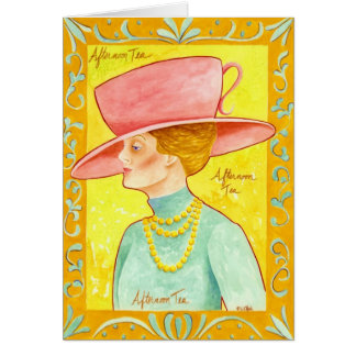 Afternoon Tea Lady Card