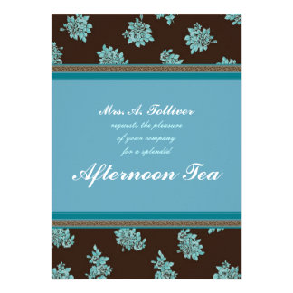 Afternoon Tea Modern Chintz Invitation