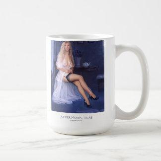 """""""AFTERNOON TEAS""""  Pinup girl coffee mug"""