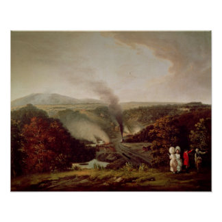 Afternoon view of Coalbrookdale, 1777 Poster