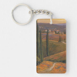 Afternoon Walk I Double-Sided Rectangular Acrylic Key Ring