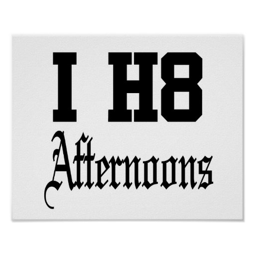 afternoons posters