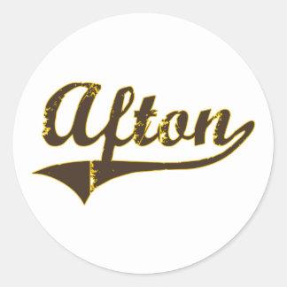 Afton Wyoming Classic Design Sticker