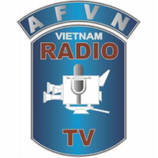AFVN - American Forces Vietnam Network Standing Photo Sculpture