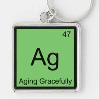Ag - Aging Gracefully Chemistry Element Symbol Tee Key Chains