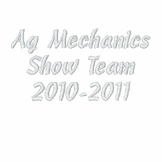 Ag MechanicsShow Team2010-2011 Embroidered Track Jacket
