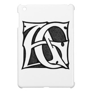 AG Monogram - Initials AG in Gothic Style Letters iPad Mini Cover