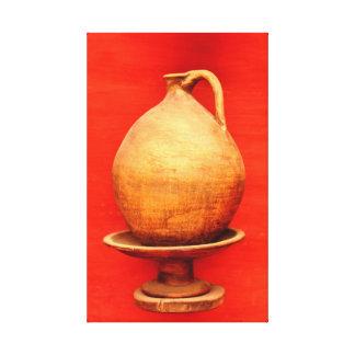 agadir morocco medina wood vase jar folk islamic b canvas print