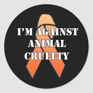 Against Animal Cruelty Animal Rescue Stickers