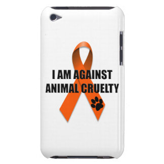 Against Animal Cruelty Orange Awareness Ribbon Barely There iPod Case
