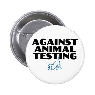 Against Animal Testing 6 Cm Round Badge