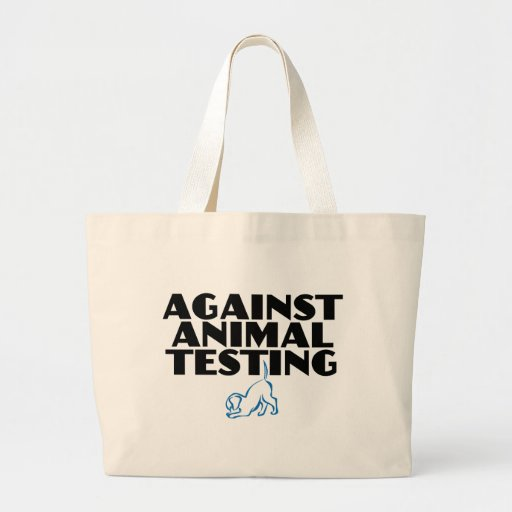 Against Animal Testing Canvas Bags
