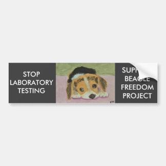 Against Animal Testing Bumpersticker Car Bumper Sticker