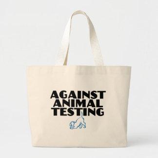 Against Animal Testing Jumbo Tote Bag