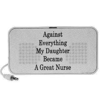Against Everything My Daughter Became A Great Nurs Laptop Speakers