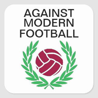 Against Modern Football Square Sticker