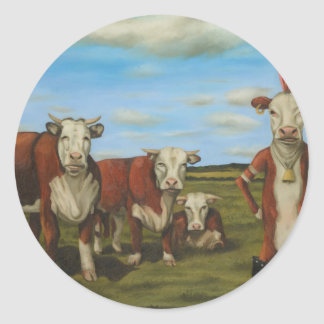 Against The Herd Classic Round Sticker