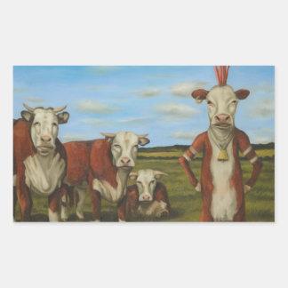 Against The Herd Rectangular Sticker