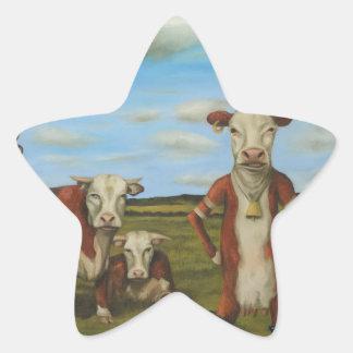 Against The Herd Star Sticker
