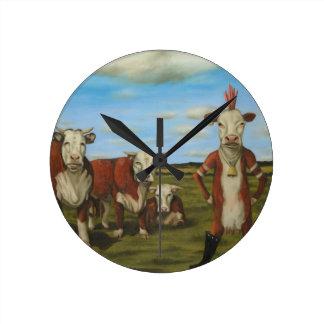 Against The Herd Wall Clocks