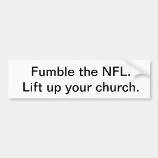 Against the NFL Bumper Sticker