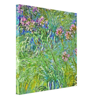 Agapanthus, Claude Monet Impressionism Stretched Canvas Print
