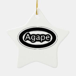 agape ceramic star decoration