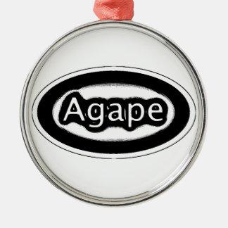 agape Silver-Colored round decoration