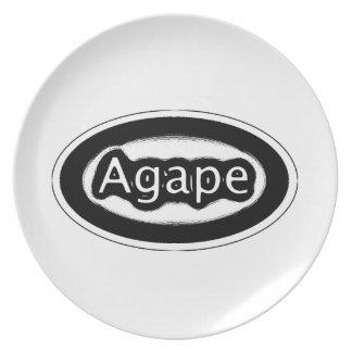 agape dinner plate