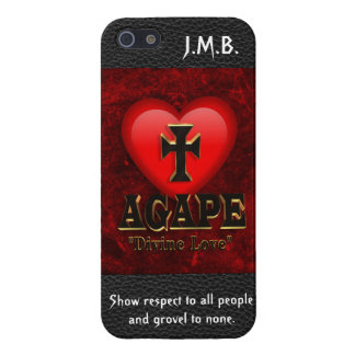 Agape, divine love iPhone 5/5S case