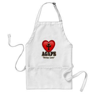 Agape heart apron symbol for God s divine love