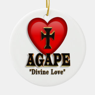 Agape heart ornament