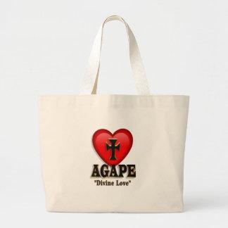 Agape heart symbol for God s divine love Canvas Bags