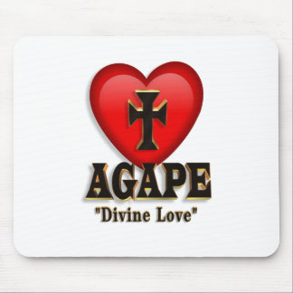 Agape heart symbol for God s divine love Mousepad
